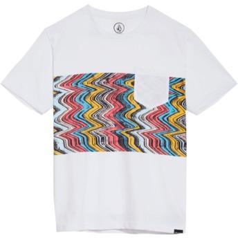 T-shirt à manche courte blanc pour enfant Lofi White Volcom