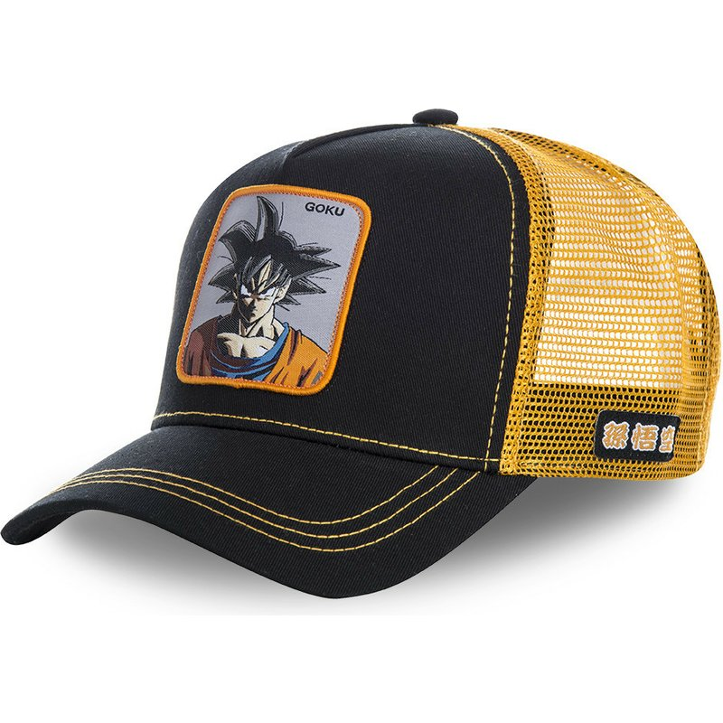 casquette-trucker-noire-et-orange-son-goku-gokb-dragon-ball-capslab