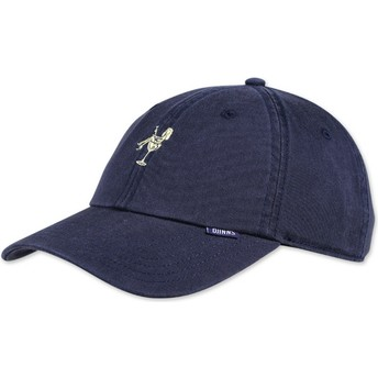 Casquette courbée bleue marine ajustable Washed Girl Djinns