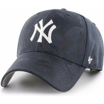 Casquette courbée camouflage bleue marine New York Yankees MLB Clean Up Jigsaw 47 Brand