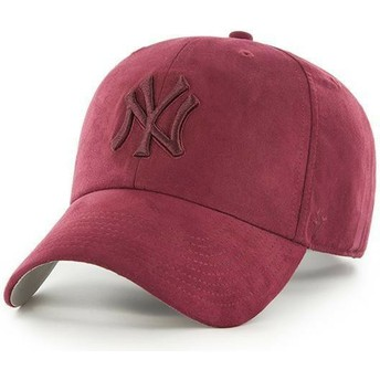 Casquette courbée grenat avec logo grenat New York Yankees MLB Clean Up Ultra Basic 47 Brand