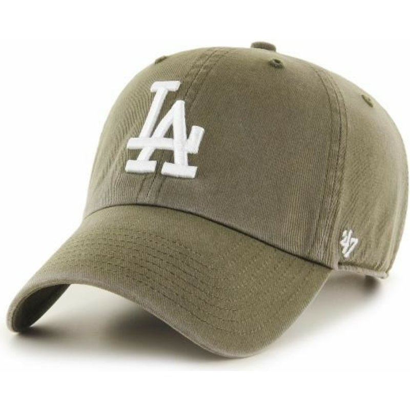 casquette-courbee-marron-los-angeles-dodgers-mlb-clean-up-47-brand