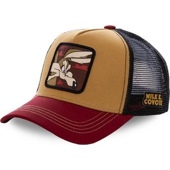 Casquette trucker marrón, noire et rouge Coyote COY2 Looney Tunes Capslab