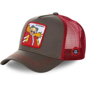 Casquette trucker grise et rouge Docteur Eggman EGG Sonic the Hedgehog Capslab