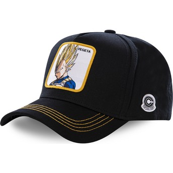 Casquette courbée noire snapback Vegeta Super Saiyan VE2 Dragon Ball Capslab
