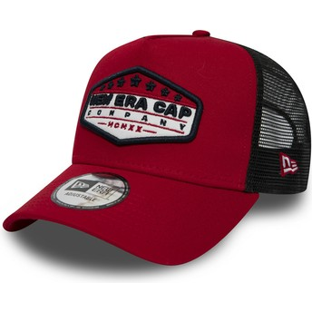 Casquette trucker rouge Patch A Frame New Era