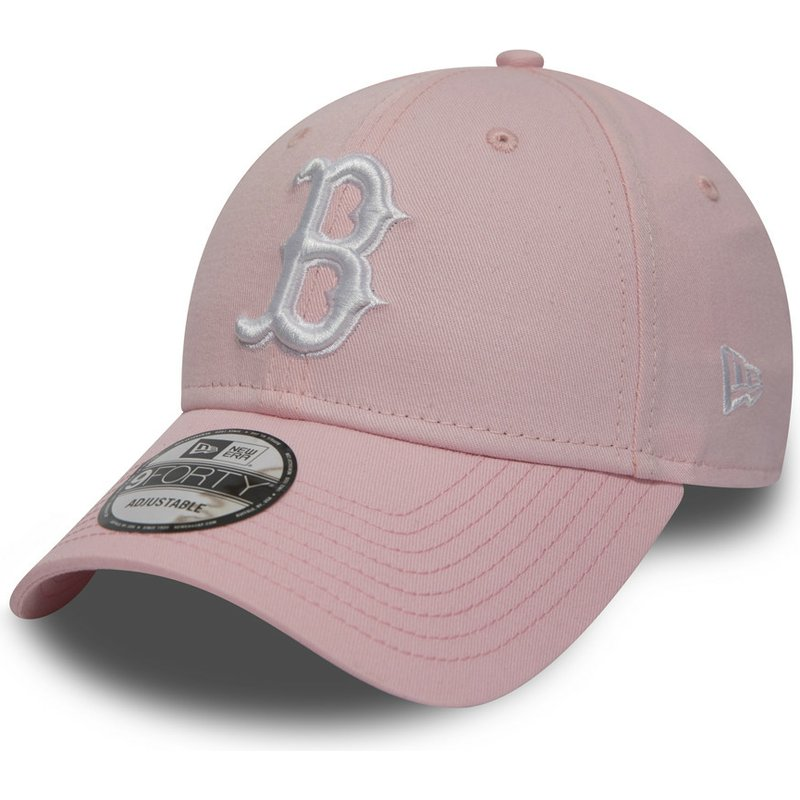 7df1d221dc244 Casquette courbée rose ajustable 9FORTY Essential Boston Red Sox MLB ...