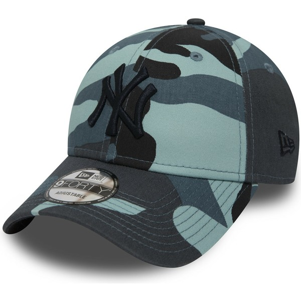 casquette-courbee-camouflage-bleue-ajustable-avec-logo-noir-9forty-essential-new-york-yankees-mlb-new-era
