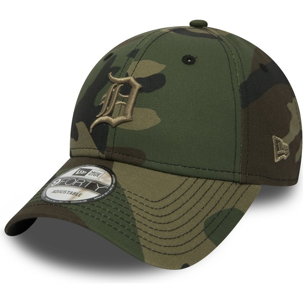 casquette-courbee-camouflage-ajustable-avec-logo-marron-9forty-essential-detroit-tigers-mlb-new-era