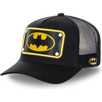 Casquette trucker noire avec plaque logo Batman BATP5 DC Comics Capslab