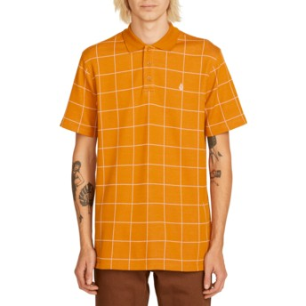 Polo à manche courte marron à carreaux Wowzer Plaid Camel Volcom
