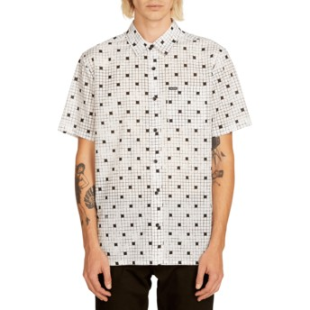 Chemise à manche courte blanche Crossed Up White Volcom