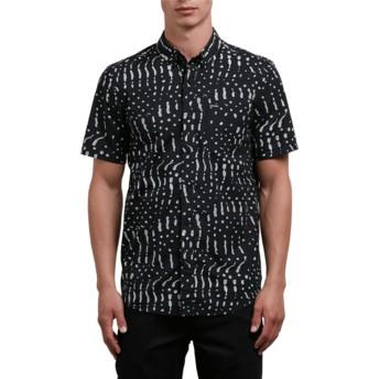 Chemise à manche courte noire Drag Dot Black Volcom
