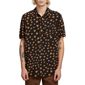 Chemise à manche courte noire Ozzie Cat Black Volcom
