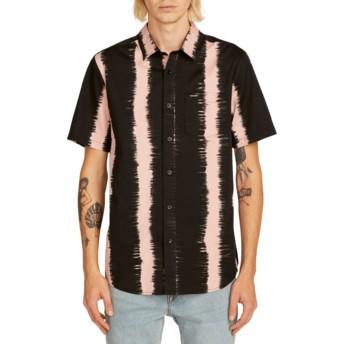 Chemise à manche courte noire et rose Fade This Light Mauve Volcom