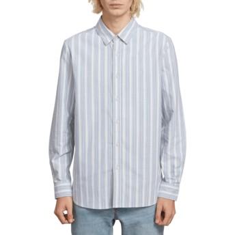 Chemise à manche longue bleue Vert Toner Wrecked Indigo Volcom