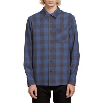 Chemise à manche longue bleue marine à carreaux Joneze Indigo Volcom