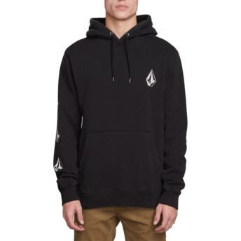 Sweat à capuche noir Deadly Stones Washed Black Volcom
