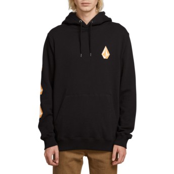 Sweat à capuche noir Deadly Stone Black Volcom
