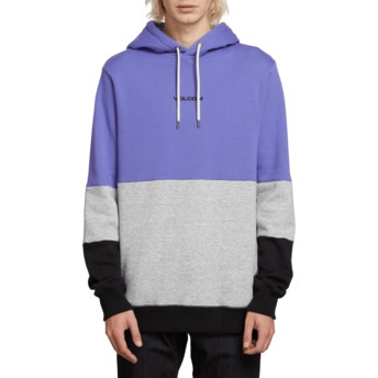 Sweat à capuche violet, gris et noir Single Stone Division Dark Purple Volcom