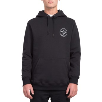 Sweat à capuche noir General Stone Black Volcom