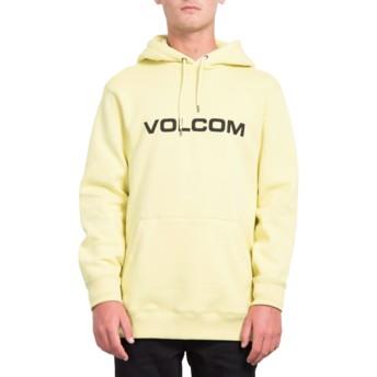 Sweat à capuche jaune General Stone Lime Volcom