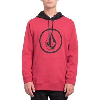 Sweat à capuche rouge Stone Burgundy Heather Volcom