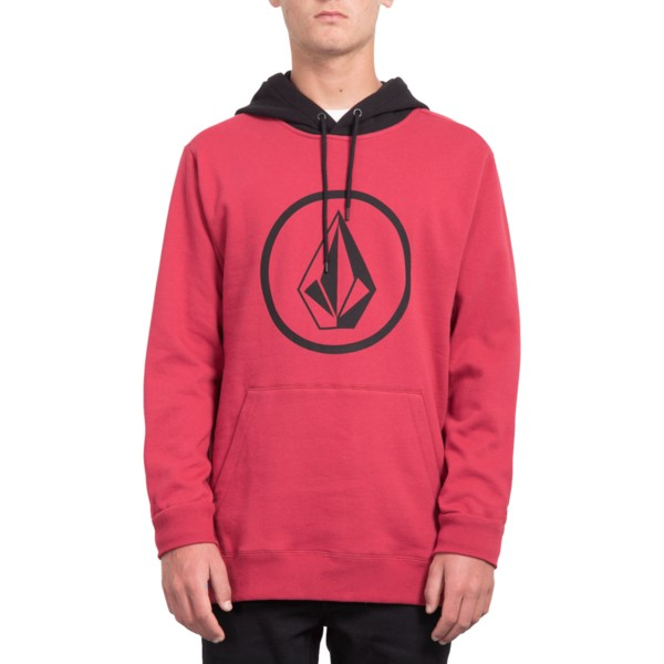 sweat-a-capuche-rouge-stone-burgundy-heather-volcom