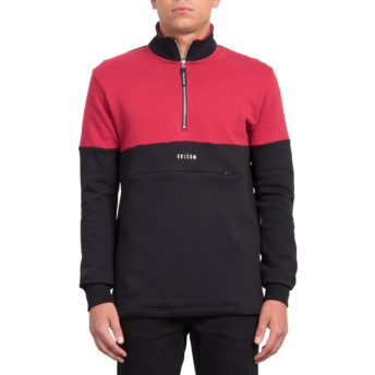 Sweat-shirt noir et rouge Rixon Black Volcom
