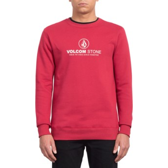 Sweat-shirt rouge General Stone Burgundy Heather Volcom