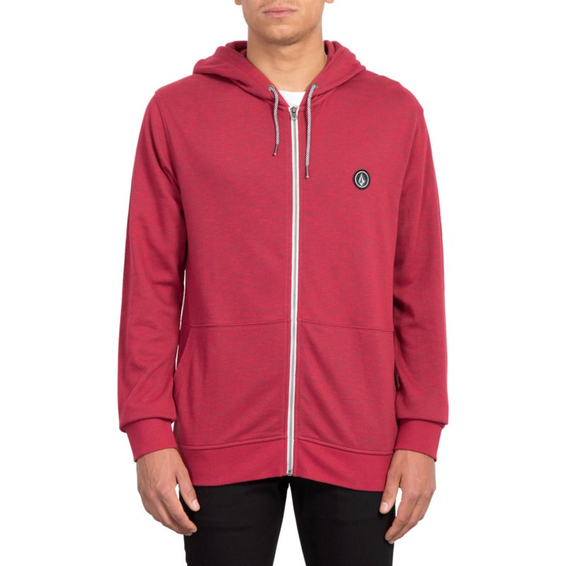 da84b0933176 Sweat à capuche et fermeture éclair rouge Litewarp Burgundy Heather ...