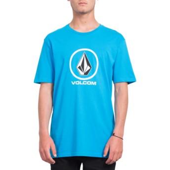 T-shirt à manche courte bleu Crisp Stone Cyan Blue Volcom