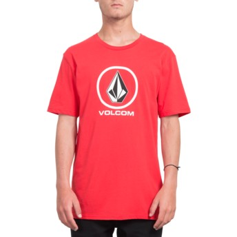 T-shirt à manche courte rouge Crisp Stone True Red Volcom