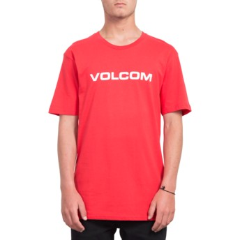 T-shirt à manche courte rouge Crisp Euro True Red Volcom