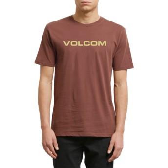 T-shirt à manche courte grenat Crisp Euro Bordeaux Brown Volcom