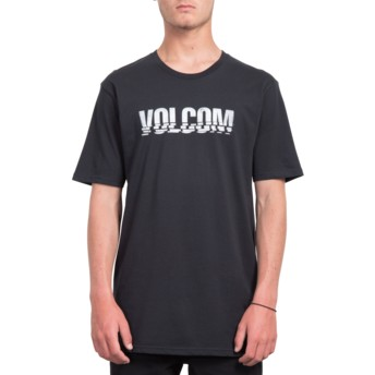 T-shirt à manche courte noir Chopped Edge Black Volcom