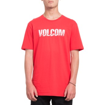 T-shirt à manche courte rouge Chopped Edge True Red Volcom