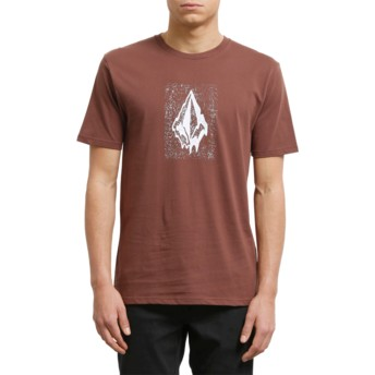 T-shirt à manche courte grenat Drippin Out Bordeaux Brown Volcom
