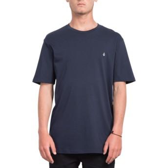 T-shirt à manche courte bleu marine Stone Blank Navy Volcom