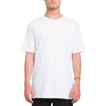 T-shirt à manche courte blanc Stone Blank White Volcom