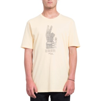 T-shirt à manche courte orange Cancel History Light Peach Volcom