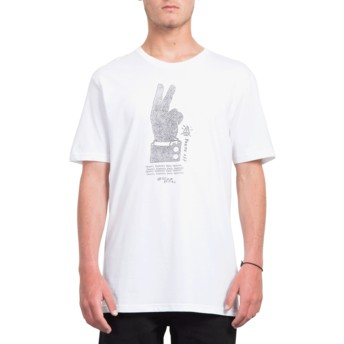 T-shirt à manche courte blanc Cancel History White Volcom