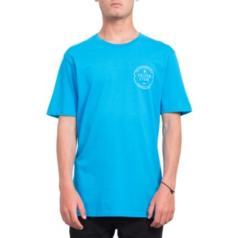 T-shirt à manche courte bleu Chop Around Cyan Blue Volcom