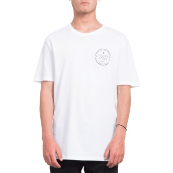 T-shirt à manche courte blanc Chop Around White Volcom