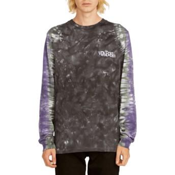 T-shirt à manche longue noir et violet Computer Crash Black Volcom