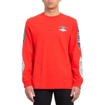 T-shirt à manche longue rouge V.I. Bright Red Volcom