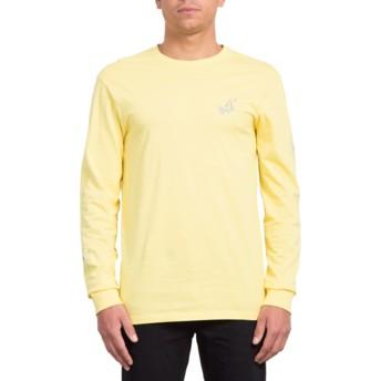T-shirt à manche longue jaune Lopez Web Yellow Volcom