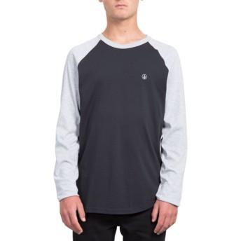 T-shirt à manche longue noir et gris Pen Heather Grey Volcom