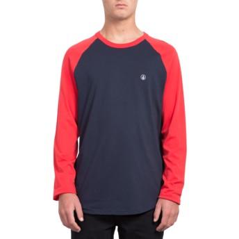 T-shirt à manche longue noir et rouge Pen True Red Volcom