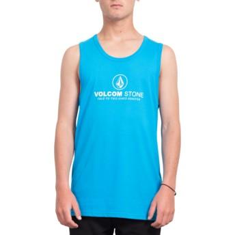 T-shirt sans manches bleu Super Clean Cyan Blue Volcom